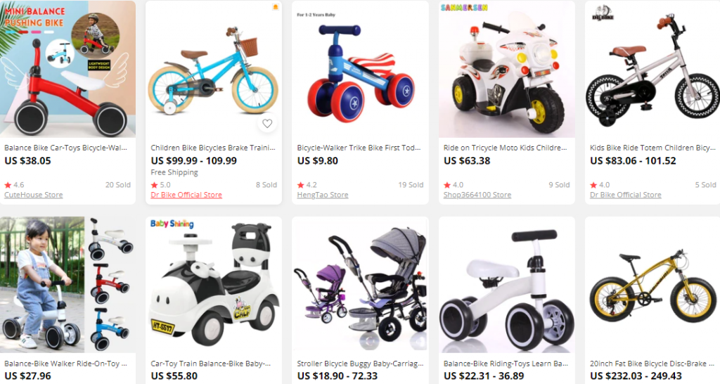 Små barns sykler-