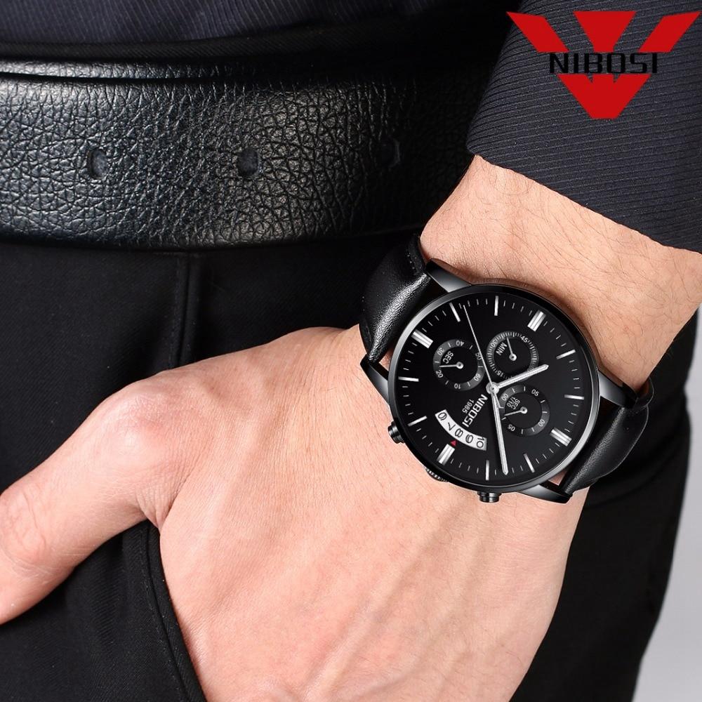 NIBOSI Mens Watches Top Brand Luxury Militray Sport Quartz Watch Men Waterproof Male Sport Clock Wristwatches Relogio Masculino