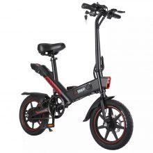 K1-001 DOHIKER-Y1 folding electric bike, with 14 wheels, 10Ah rechargeable battery, 350W, 36V LED headlight, waterproof