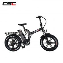 CSC Electric Fat Bike Motor 20 Inch  4.0 Tire 48V 500W Snow Bicycle Ebike 15.6A Lithium Battery Folding E-bike