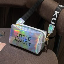 Mini Women Laser Crossbody Bag Messenger Shoulder Bag PVC Jelly Small Tote Messenger Candy Colors Bags Laser Holographic