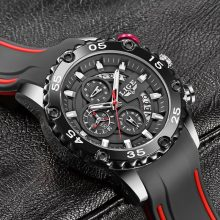 Watches Mens 2020 LIGE Top Brand Waterproof Clock Male Silicone Strap Sport Quartz Watch For Men Big Dial Chronograph Wristwatch