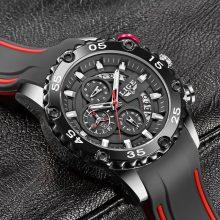 Watches Mens 2020 LIGE Top Brand Waterproof Clock Male Silicone Strap Sport Quartz Watch For Men Big Dial Chronograph Wristwatch
